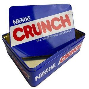 Nestle Crunch Fun Size Vintage Blue Metal Tin